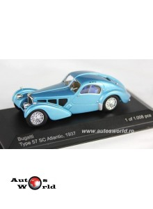 Bugatti 57 SC Atlantic bleu metalizat, 1:43 Whitebox