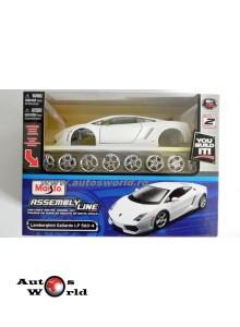 Lamborghini Gallardo LP560-4 kit - alb, 1:24 Maisto