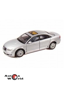 Macheta auto Audi A8 gri 2004, 1:18 Motormax
