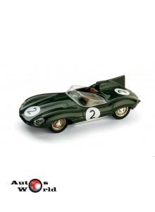 Macheta auto Jaguar D Type Bipost Le Mans 1956 #2 , 1:43 Brumm