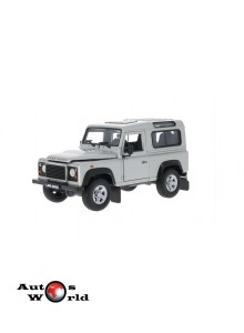 Macheta auto Land Rover Defender gri, 1:24 Welly