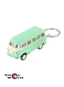 Breloc Volkswagen Samba Bus verde 1962, 1:64 Kinsmart