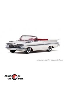 Chevrolet Impala decapotabil alb 1959, 1:43 Vitesse