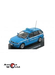Macheta auto BMW 320D Touring 2003 Polizia, 1:43 Deagostini