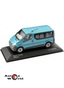 Macheta auto Opel Vivaro Bus albastru, 1:43 Minichamps