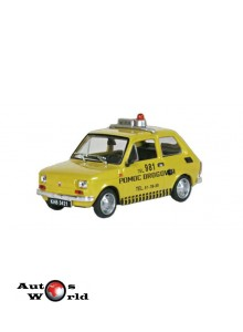 Macheta auto Fiat 126p Asistenta, 1:43 Deagostini/Ixo