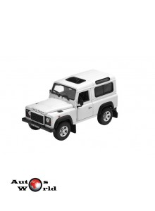 Macheta auto Land Rover Defender alb, 1:24 Welly