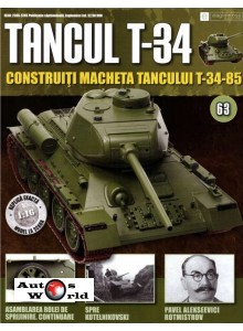 Colectia Tancul Т-34 Nr.63, 1:16 macheta kit de asamblat, Eaglemoss