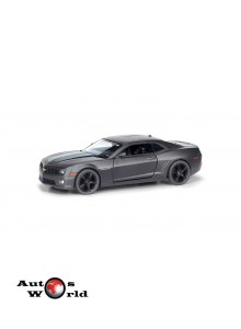 Macheta auto Chevrolet Camaro negru mat 5 inch, 1:32-36 RMZ City