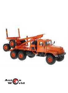 Macheta camion KrAZ 225L1 transportor lemne portocaliu, 1:43 Special Co ...