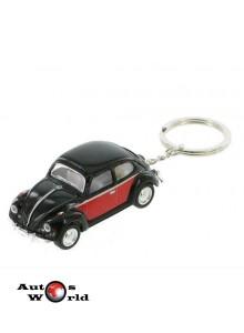 Breloc Volkswagen Beetle negru 1967, 1:64 Kinsmart