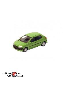 Macheta auto Peugeot 206 verde, 1:72 Cararama