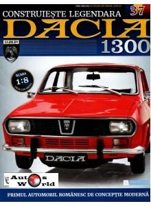 Macheta auto Dacia 1300 KIT Nr.37 - elemente consola, radio, scara 1:8 Eaglemoss