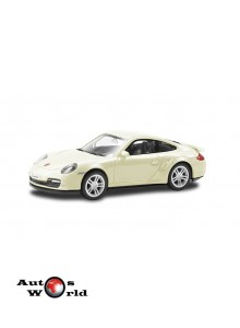 Macheta auto Porsche 911 Turbo alb 4 inch, 1:43 RMZ City ...