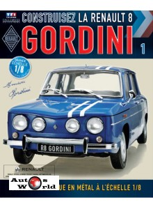 Macheta auto Renault 8 Gordini KIT Nr.1, scara 1:8 Eaglemoss