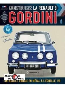 Macheta auto Renault 8 Gordini KIT Nr.6, scara 1:8 Eaglemoss