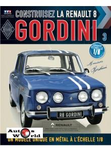 Macheta auto Renault 8 Gordini KIT Nr.3, scara 1:8 Eaglemoss