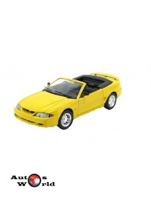 Macheta auto Ford Mustang GT convertible galben, 1:18 Jouef Evolution