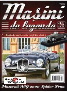 Masini De Legenda Nr.26 - Macheta auto Maserati A6G 2000 Spider 1952, 1:43 Amerc ...
