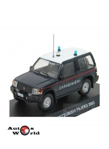 Macheta auto Mitsubishi Pajero 4X4 Carabinieri 2003, 1:43 Deagostini