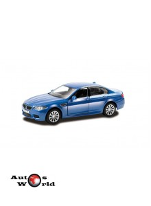 Macheta auto BMW M5 albastru pull-back 5 inch, 1:32-36 RMZ City