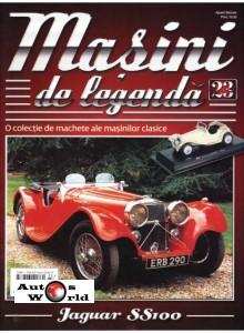 Masini De Legenda Nr.23 - Macheta auto Jaguar SS100 1936, 1:43 Amercom ...