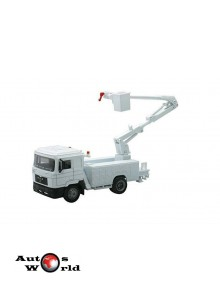 Macheta camion MAN F2000 platforma interventii, 1:43 Newray