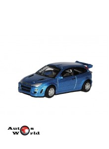 Macheta auto Ford Focus albastru, 1:72 Cararama