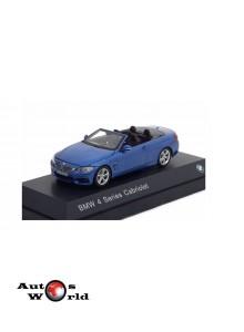 Macheta auto BMW 4 Series Cabriolet (F33) 2013 albastru, 1:43 Paragon