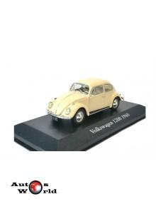 Macheta auto Volkswagen Beetle 1200 crem 1960, 1:43 Atlas