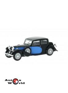 Macheta auto Bugatti 57 Galibier albastru/negru 1934, 1:43 Whitebox