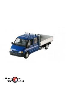 Macheta auto Ford Transit pickup 2001 albastru, 1:43 Minichamps