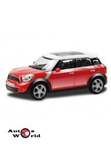 Macheta auto Mini Cooper Countryman rosu 4 inch, 1:43 RMZ City
