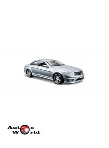 Macheta auto Mercedes Benz CL63 AMG gri, 1:24 Maisto