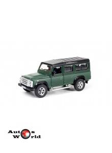 Macheta auto Land Rover Defender verde pull-back 5 inch, 1:32-36 RMZ City