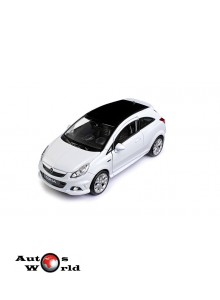 Macheta auto Opel Corsa OPC alb 2008, 1:24 Welly