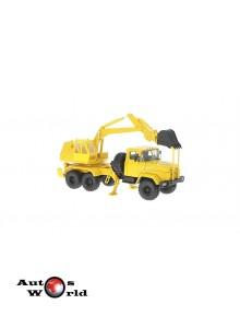 Macheta camion KrAZ 6322 AO-4421 galben, 1:43 Special Co