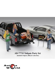 Figurine Barbeque set, 1:18 American Diorama