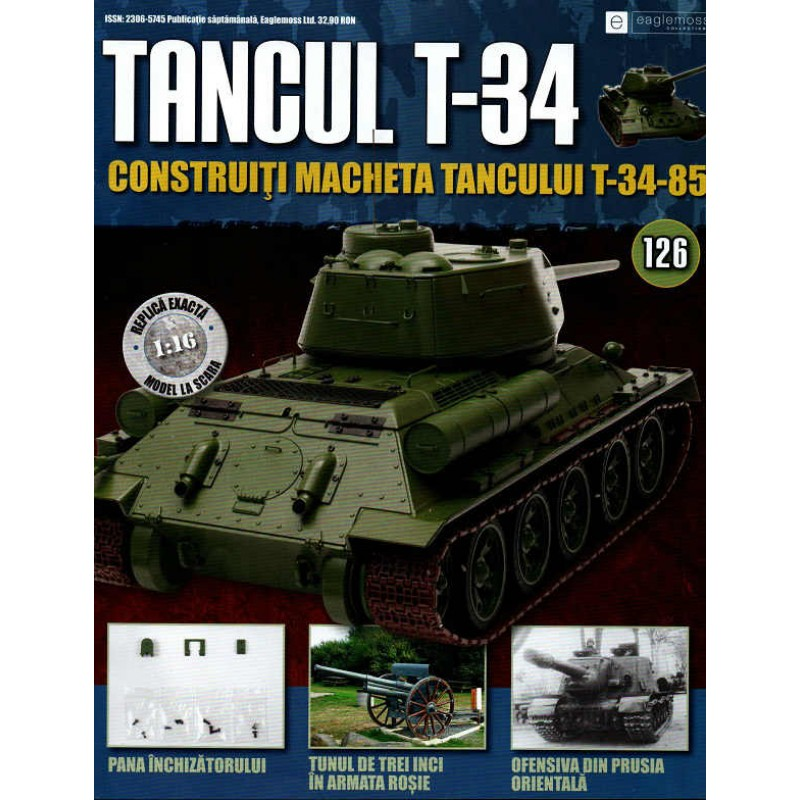 Colectia Tancul Т-34 Nr.126, 1:16 macheta kit de asamblat, Eaglemoss