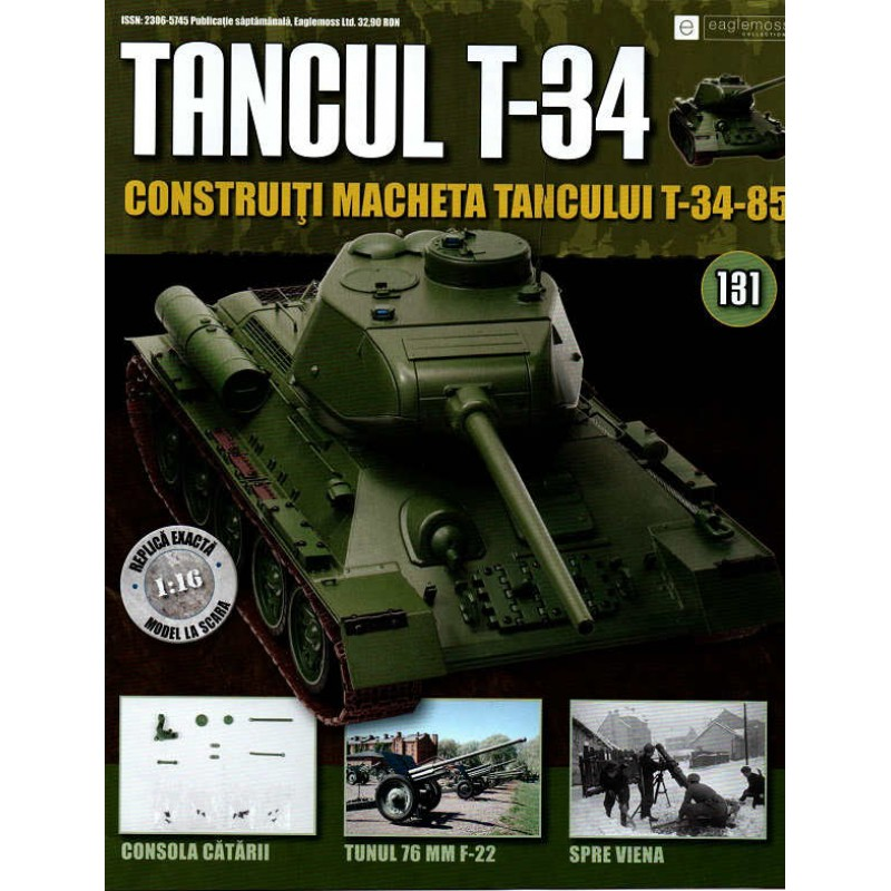 Colectia Tancul Т-34 Nr.131, 1:16 macheta kit de asamblat, Eaglemoss