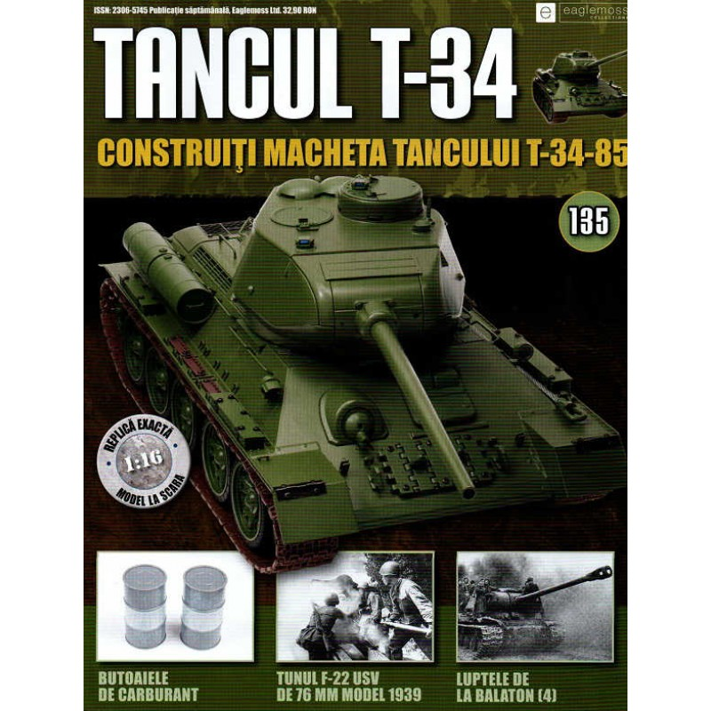 Colectia Tancul Т-34 Nr.135, 1:16 macheta kit de asamblat, Eaglemoss