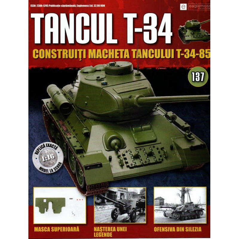 Colectia Tancul Т-34 Nr.137, 1:16 macheta kit de asamblat, Eaglemoss