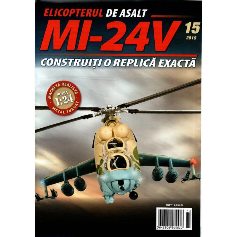Macheta Elicopterului de asalt MI-24V nr 15, 1:24 Eaglemoss