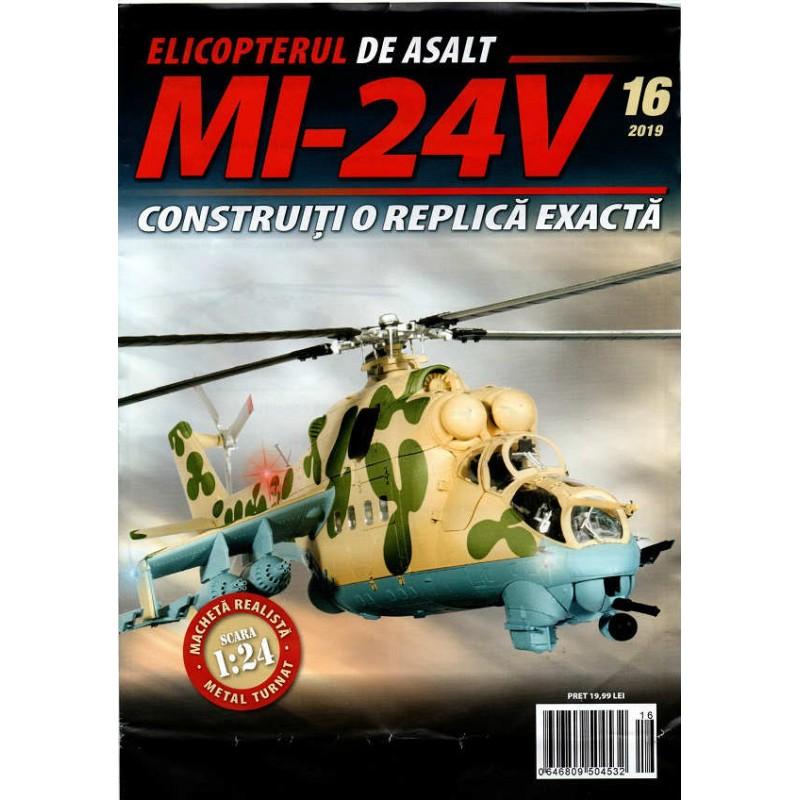 Macheta Elicopterului de asalt MI-24V nr 16, 1:24 Eaglemoss