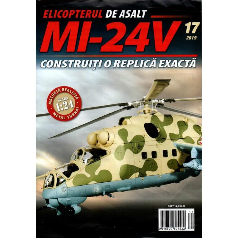Macheta Elicopterului de asalt MI-24V nr 17, 1:24 Eaglemoss