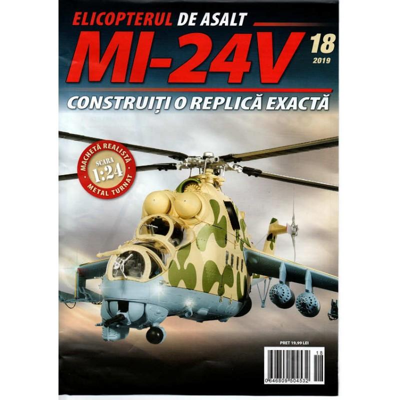 Macheta Elicopterului de asalt MI-24V nr 18, 1:24 Eaglemoss