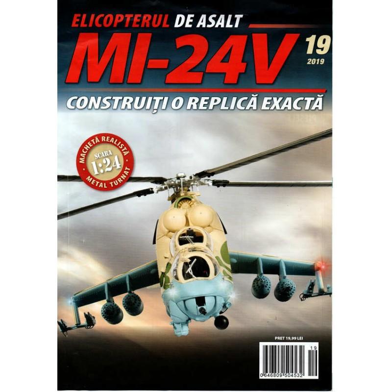 Macheta Elicopterului de asalt MI-24V nr 19, 1:24 Eaglemoss