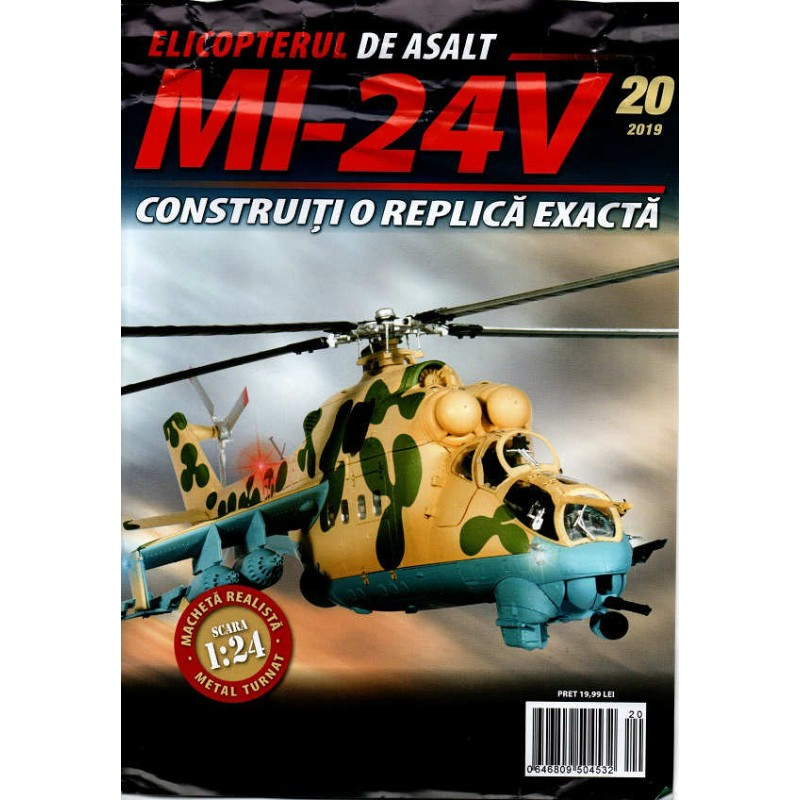 Macheta Elicopterului de asalt MI-24V nr 20, 1:24 Eaglemoss