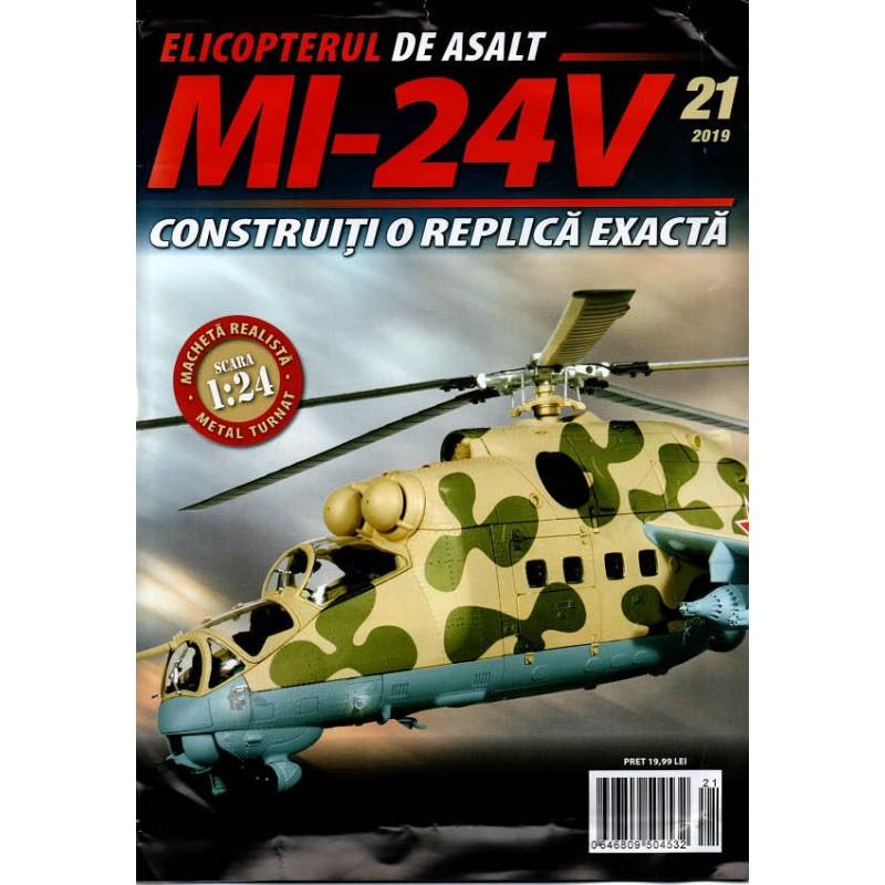 Macheta Elicopterului de asalt MI-24V nr 21, 1:24 Eaglemoss