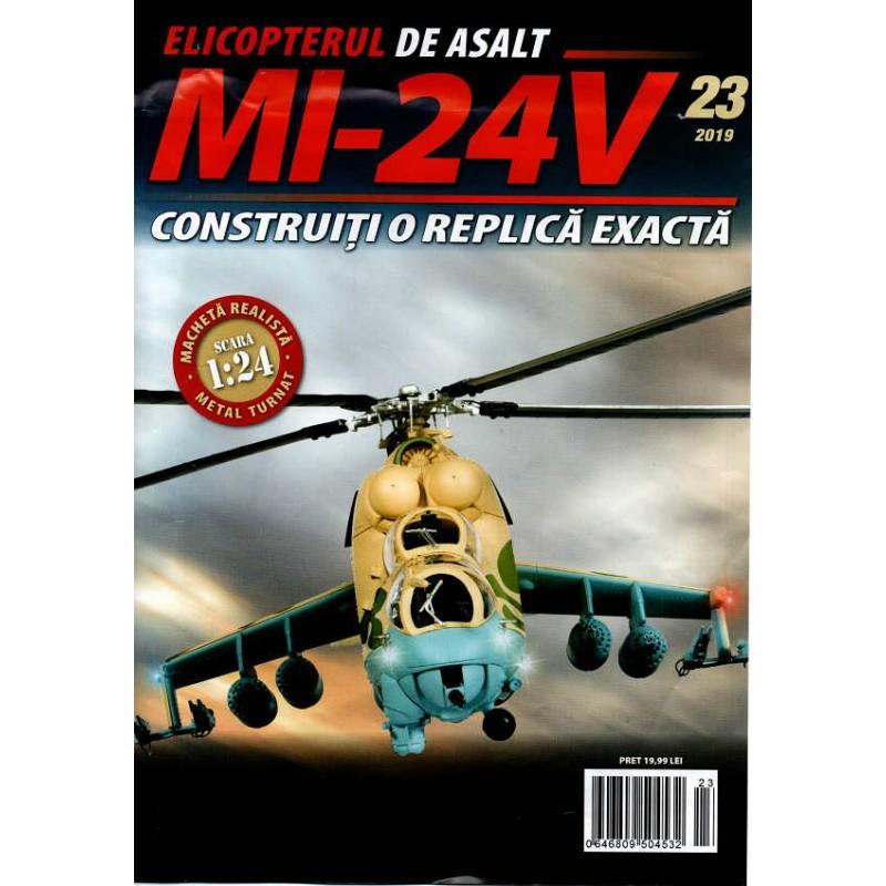 Macheta Elicopterului de asalt MI-24V nr 23, 1:24 Eaglemoss